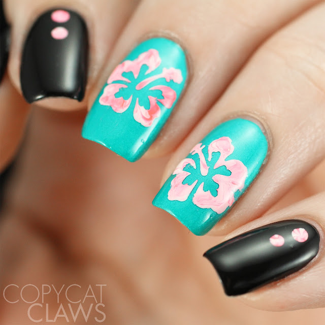 Whats Up Nails Hibiscus Stencils