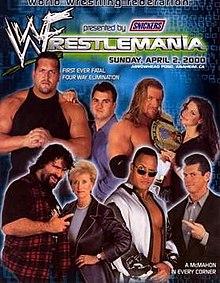 WWE / WWF Wrestlemania 2000 - Event poster