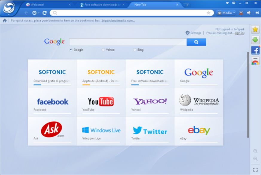 baidu spark browser Arabic