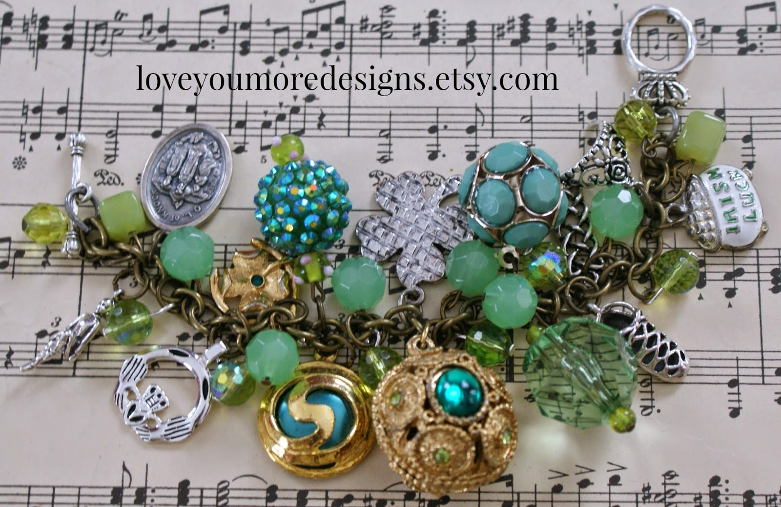 Irish Dance Charm Bracelet by Love You More Designs on Etsy