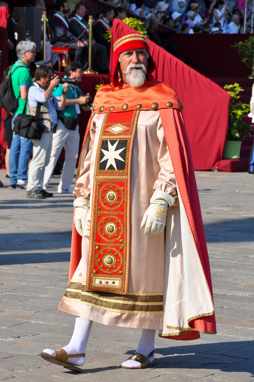 A representative of Amalfi, Historical Parade, Regatta of the Ancient Maritime Republics, Venice, Italy