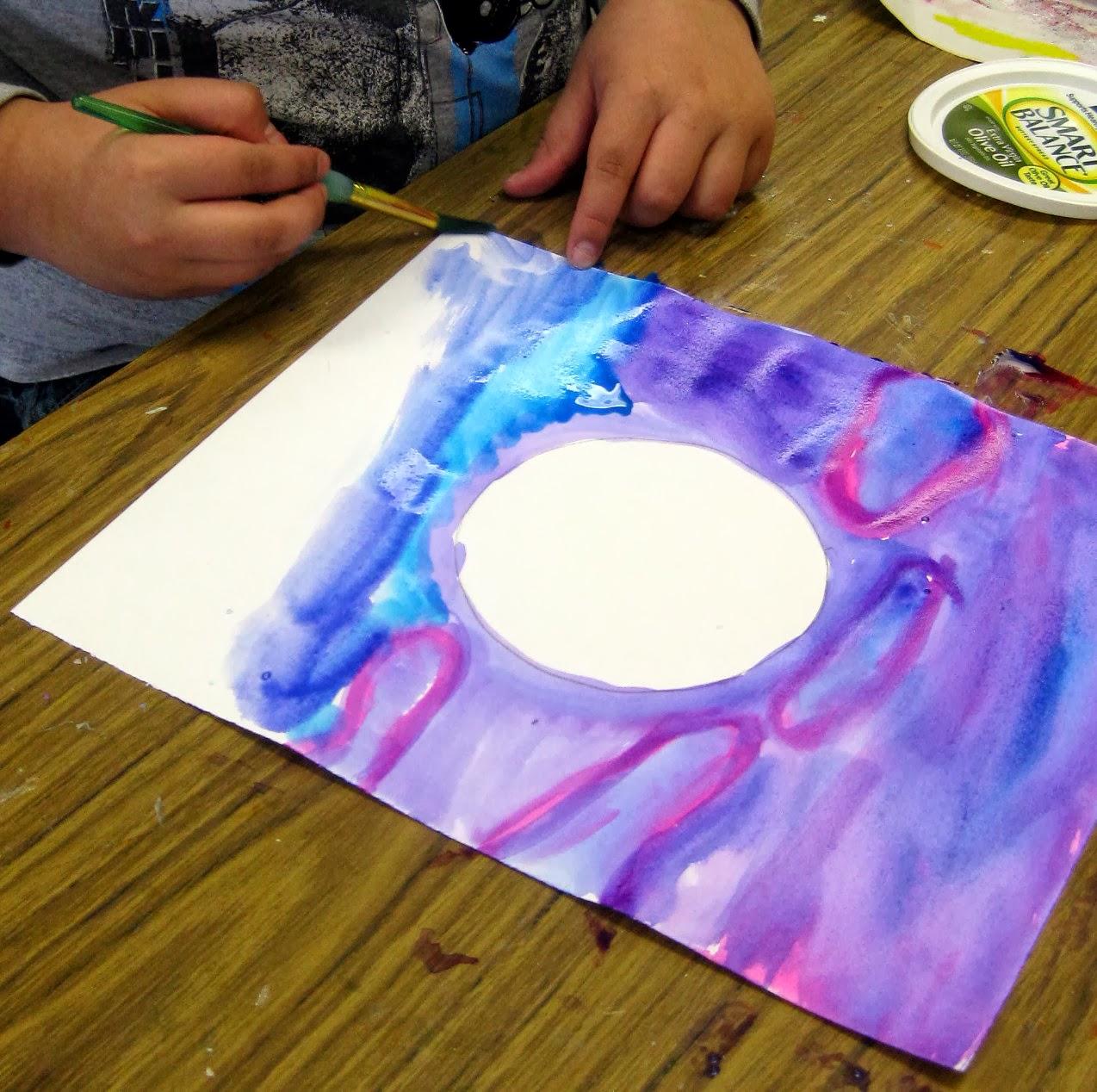 Cassie Stephens painting lesson for children