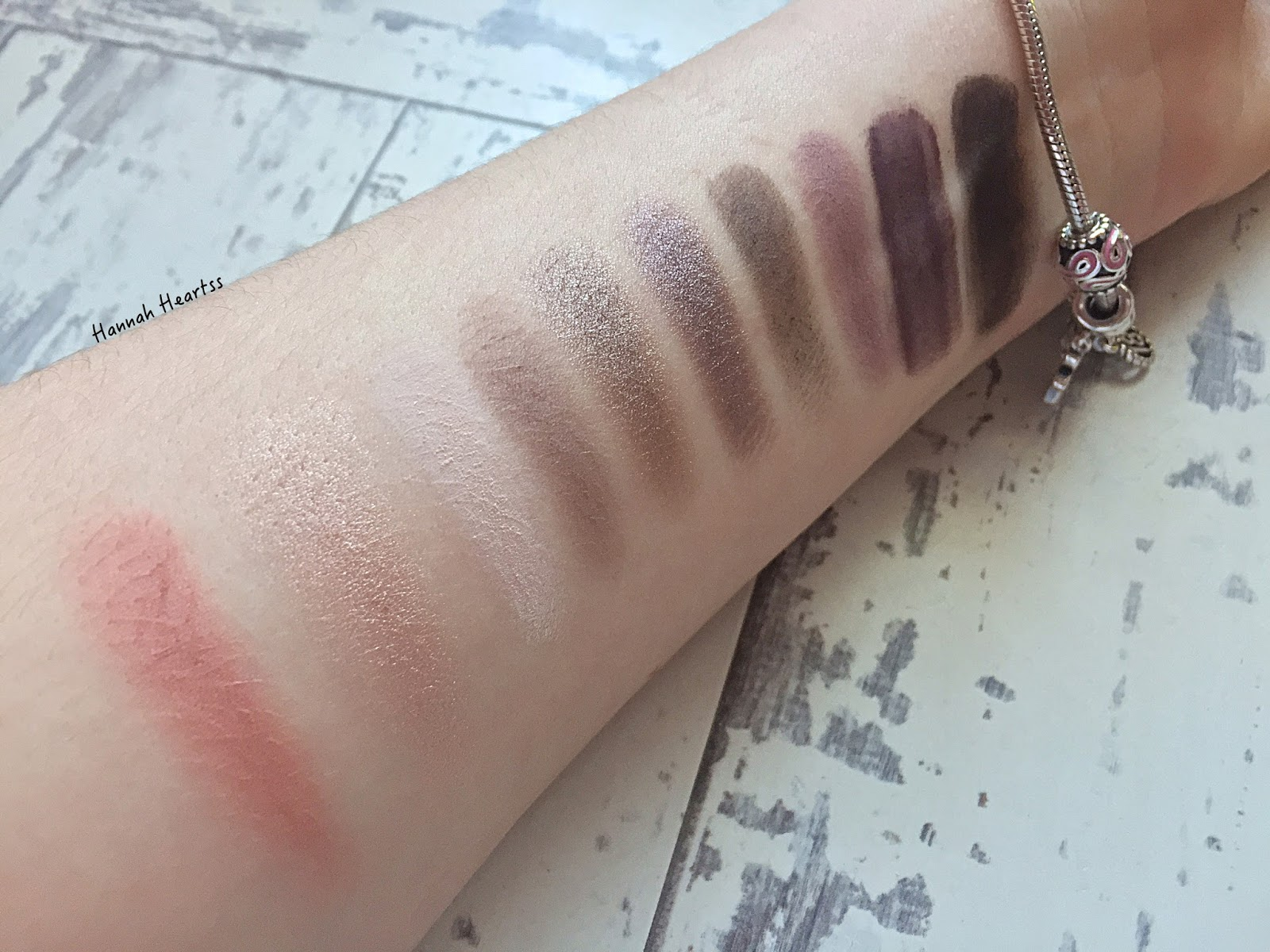 Tarte Energy Noir Palette Swatches