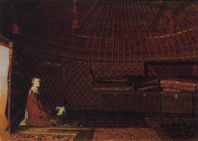 Василий Васильевич Верещагин - Внутренность юрты богатого киргиза. 1869-1870
