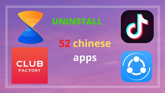 52 Chinese App List Ban in India