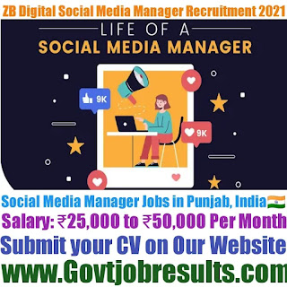 ZB Digital Social Media Manager Recruitment 2021-22