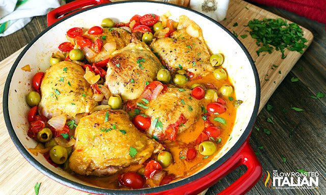 http://www.theslowroasteditalian.com/2015/10/pan-fried-chicken-thighs-olives-tomatoes-recipe.html