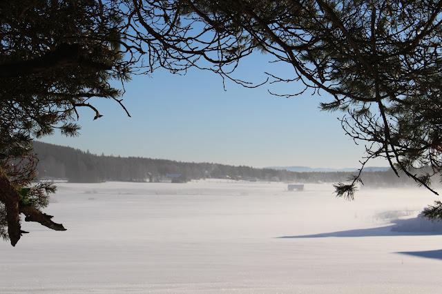 #himmel #sol #dis #snö #vinter #hälsingland