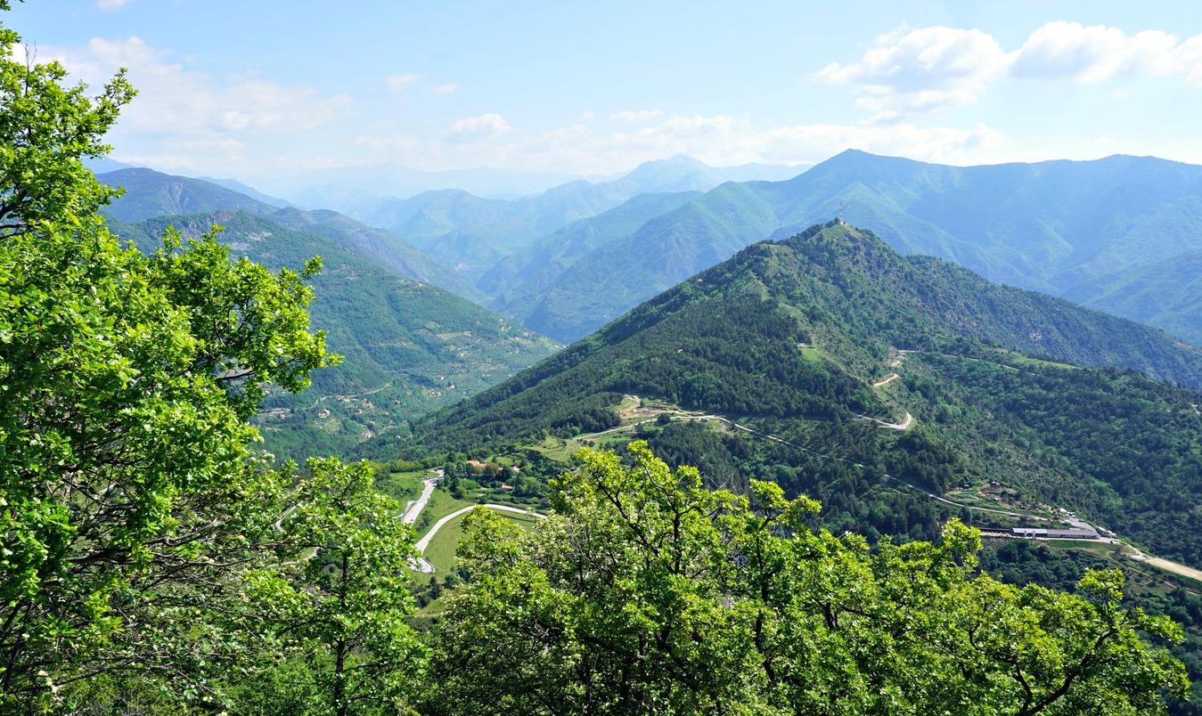 Col de Brouis seen from trail to Mont Gros