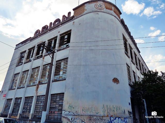 Fachada da antiga Fabrica Orion SA - Brás - São Paulo
