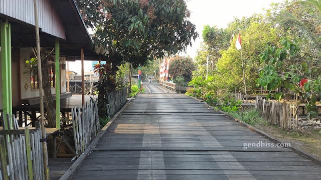 Kondisi jalan di Mentaya Seberang