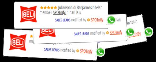 SPOTnify notifikasi pembeli