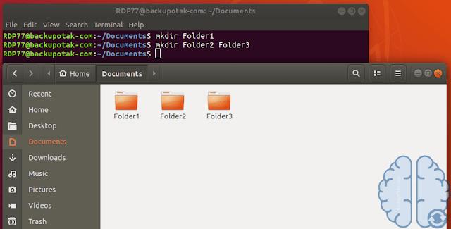 Membuat Banyak Folder Di Terminal Linux