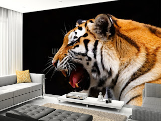 tiger fototapet vardagsrum