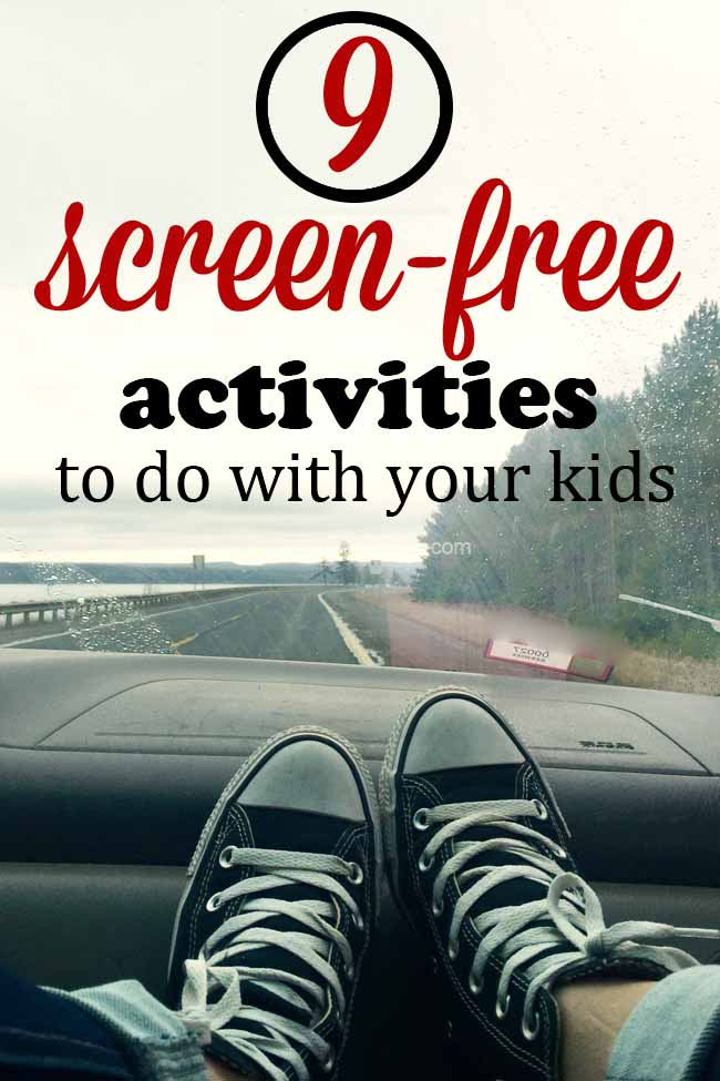 Fun and creative activities to do with your children this summer that don't require a screen