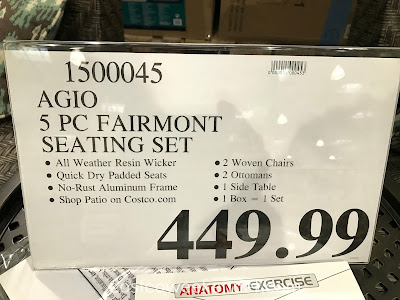 Deal for the Agio International 5-piece Fairmont Woven Seating Set at Costco