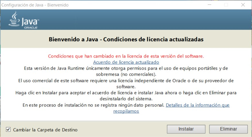 Java 8 Update 261 Full En Español 2020