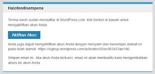 Cara membuat blog secara gratis di wordpress