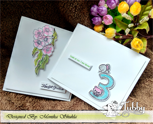 Tubby Craft DT Post: CAS Card - Heartfelt Gratitude
