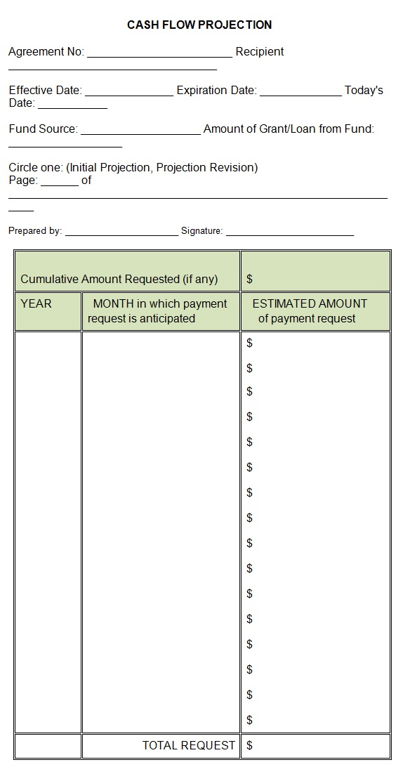 cash flow projection worksheet template - cash flow projections template sample