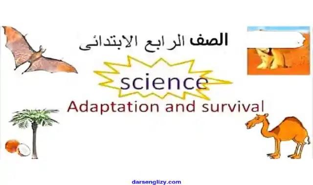 اجمل مذكرة ساينس للصف الرابع الابتدائى لغات الترم الاول 2022 المنهج الجديد Science prim 4