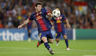 Gambar aksi Leonel Messi alis si kutu