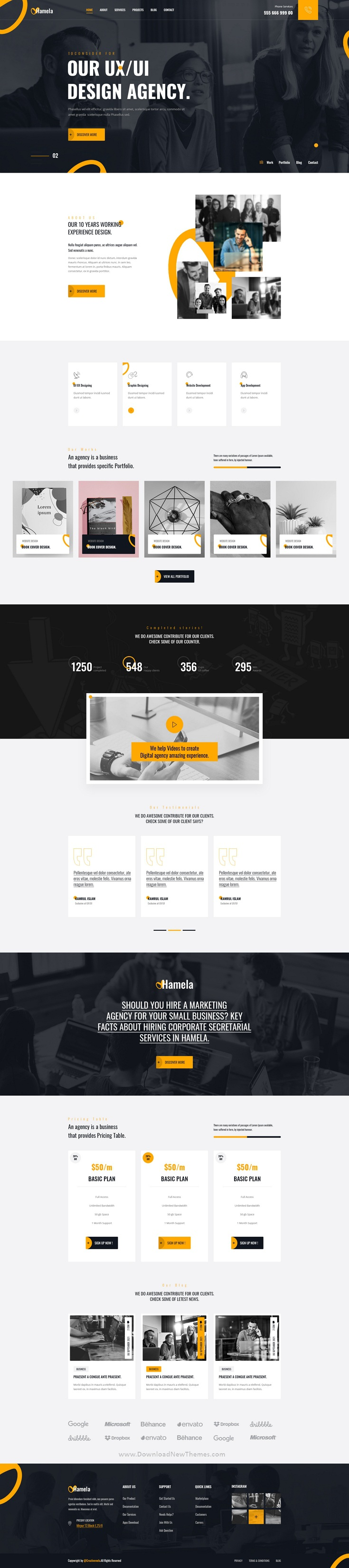 Digital Agency Services PSD Template