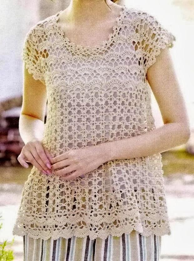 Free Crochet Pattern Tunic Vest : Crochet Sweaters: Crochet Tunic Pattern - Wonams Tunic ...