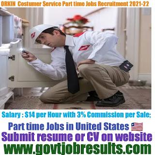 Orkin Part-time Customer Service Jobs Recruitment 2021-22