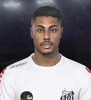 PES 2018 Faces Bruno Henrique by Lucas Facemaker