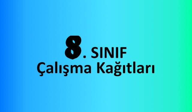 8 Sinif Matematik Calisma Kagitlari