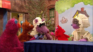 Little Red Riding Hood, The Big Bad Wolf, Telly, Baby bear, Sesame Street Episode 4320 Fairy Tale Science Fair season 43