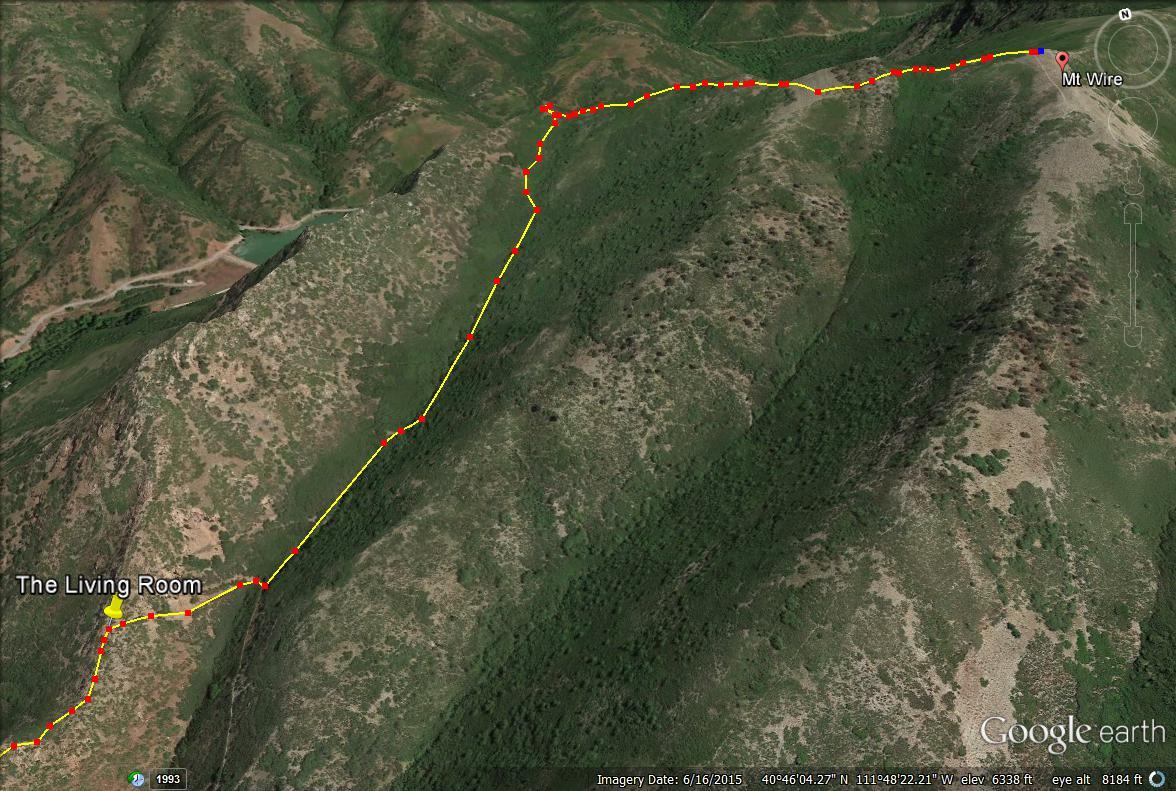 Mt Wire Trail Map Mount Utah