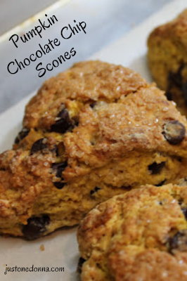 Pumpkin Chocolate Chip Scones for a fall breakfast