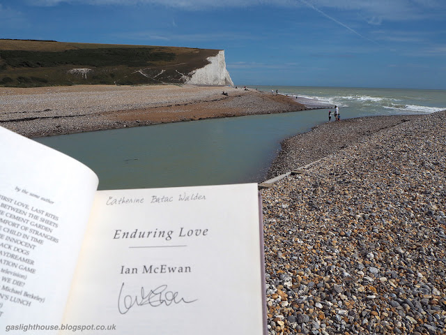 gaslighthouse.blogspot.com Seven Sisters cliffs, Atonement, Ian Mcewan, film, book, travel, James McAvoy, Keira Knightley, Enduring Love, first edition