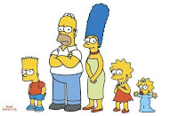 Homer, Marge, Bart, Lisa and Maggie Simpson