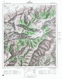 Cartes Topographique du maroc Addouz 50000