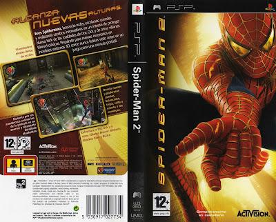 Jogo Spider-Man 2 PSP DVD Capa
