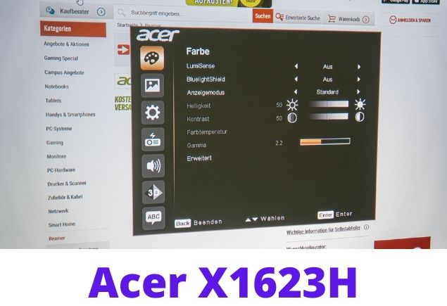 ACER X1623H projector USB Setting