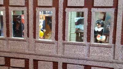 Exfilna 2018. Archivo de Indias. Diorama de Playmobil. Sevilla y la Conquista de las Indias