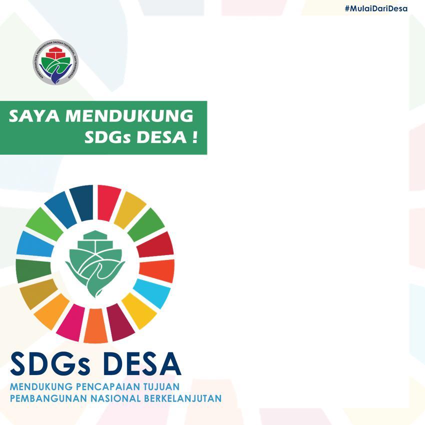 Link Twibbon Saya Mendukung SDGs Desa 2021