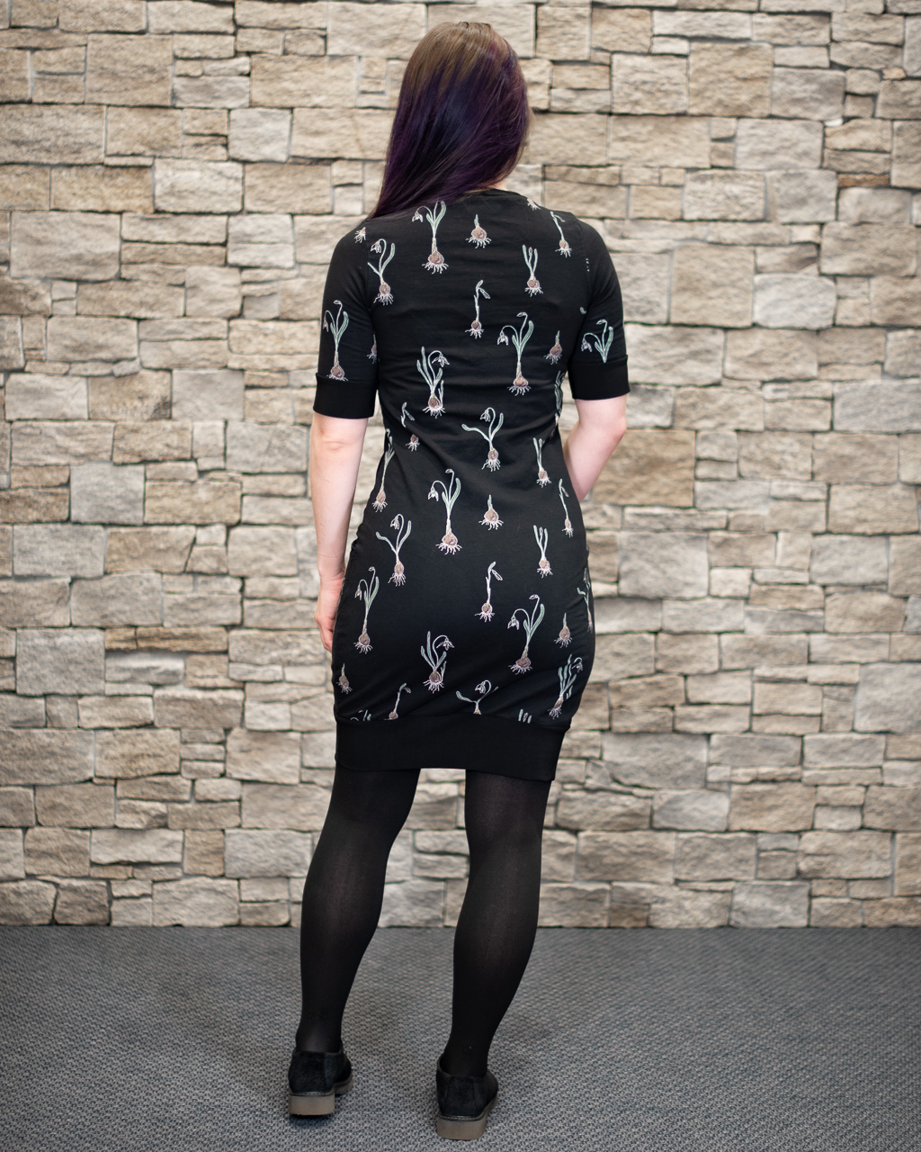 back view behind short tight slim fit the rival dress george and + ginger sewing pattern review minn's things blogger