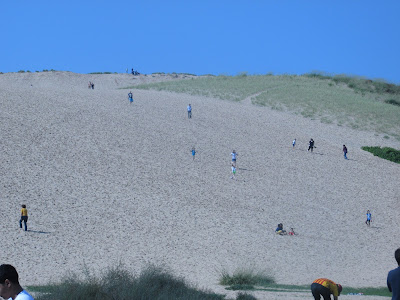 Climbing the sand dunes- Vickie's Kitchen and Garden