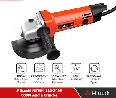 Mitsushi MT954 220-240V 600W Angle Grinder