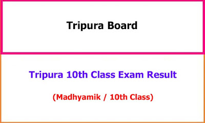 Tripura 10th Class Exam Result