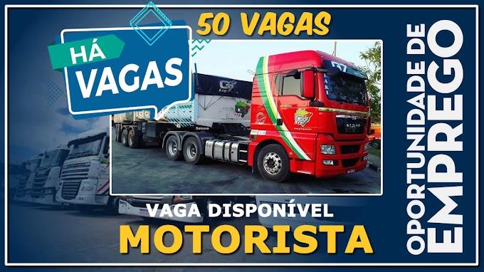 G7 LOG ABRE 50 VAGAS PARA MOTORISTA