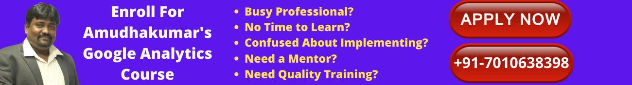 Online Google analytics Course Training in India