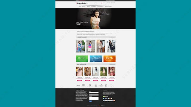 shopaholic boutique blogger template
