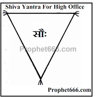 A Hindu Yantra Charm of Lord Shiva to get authority and high office