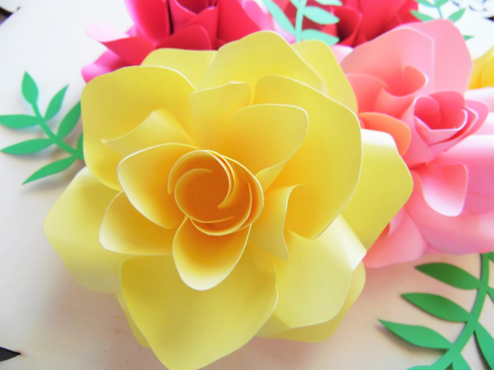 In a bed of paper roses how to make easy diy paper roses abbi ansley rose mightylinksfo